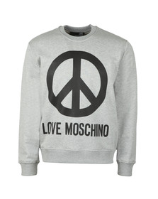 Love Moschino Mens Grey Large Peace Sweatshirt
