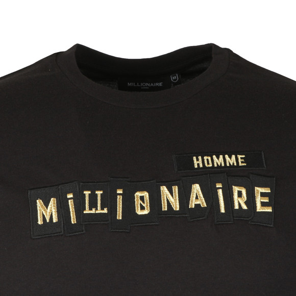 Millionaire Homme Mens Black Patchwork Tee main image