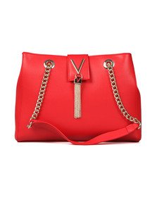 Valentino by Mario Womens Red Divina Tote