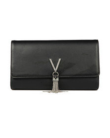 Valentino by Mario Womens Black Ranma Clutch