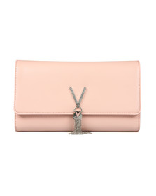 Valentino by Mario Womens Pink Ranma Clutch
