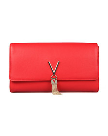 Valentino by Mario Womens Red Divina Clutch