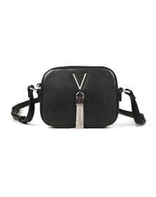 Valentino by Mario Womens Black Divina Small Handle Tote
