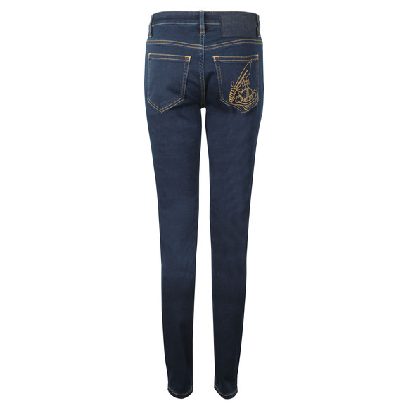 Vivienne Westwood Anglomania Womens Blue High Waist Slim Jean main image