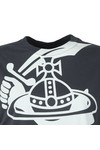 Vivienne Westwood Anglomania Womens Grey Womens Boxy Arm & Cutlass T Shirt