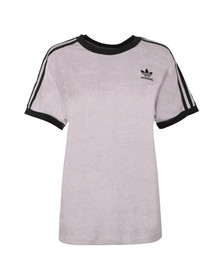 adidas Originals Womens Purple 3 Stripes Towelling T Shirt