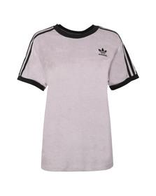adidas Originals Womens Purple 3 Stripes Towelling T Shirt