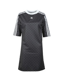 adidas Originals Womens Black Spotted T Shirt Dress
