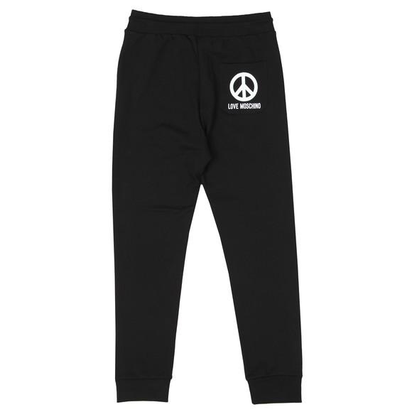 Love Moschino Mens Black Printed Peace Logo Sweatpant main image