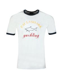 Paul & Shark Mens White Large Logo T Shirt