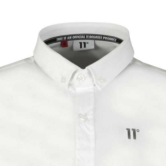 Eleven Degrees Mens White L/S Contrast Logo Shirt main image