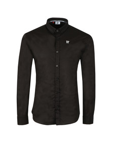 Eleven Degrees Mens Black L/S Contrast Logo Shirt