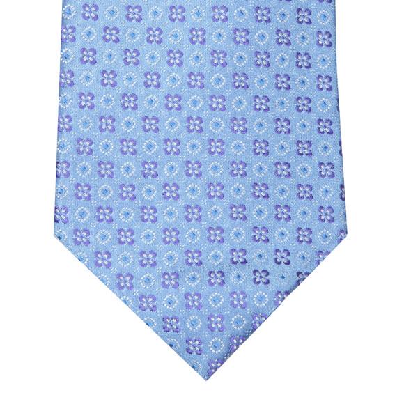 Eton Mens Blue Flower Tie main image