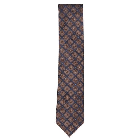 Eton Mens Brown Pattern Tie