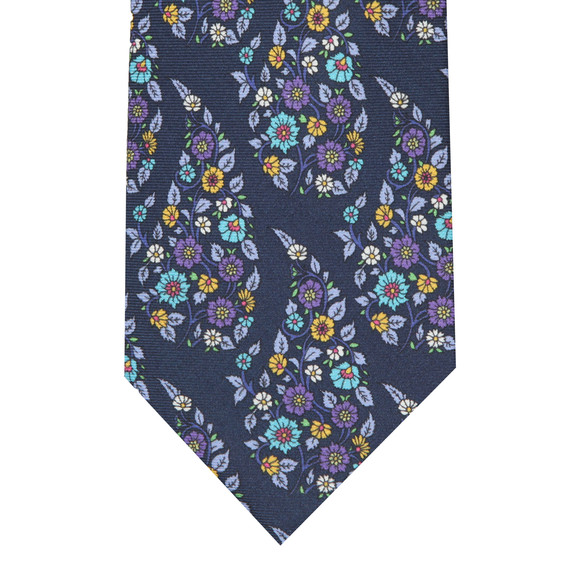 Eton Mens Purple Flower Tie main image