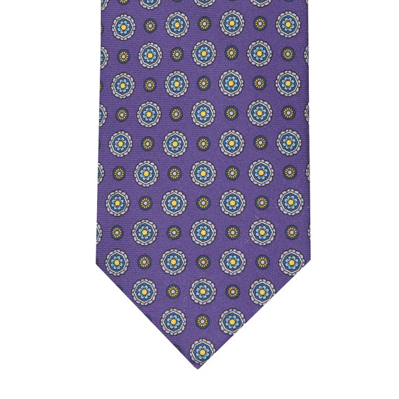 Eton Mens Purple Flower Tie main image