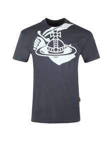 Vivienne Westwood Anglomania Mens Grey Mens Boxy Arm & Cutlass Print T Shirt