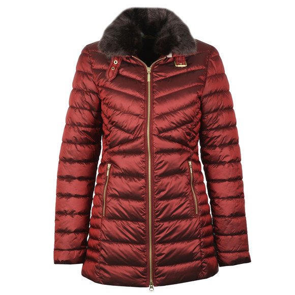Barbour Lifestyle Womens Red Lomond Quilted Jacket main image