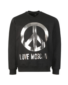 Love Moschino Mens Black Large Peace Sweatshirt