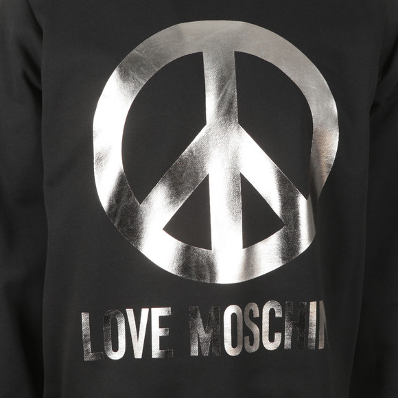 Love Moschino Mens Black Large Peace Sweatshirt main image