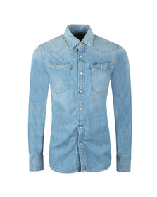 G-Star Mens Blue 3301 Slim Denim Shirt