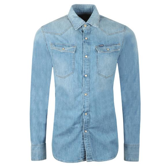 G-Star Mens Blue 3301 Slim Denim Shirt main image