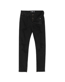 Sik Silk Mens Black Vintage Plus Ripped Jeans