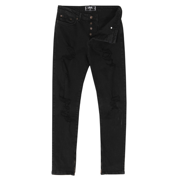 Sik Silk Mens Black Vintage Plus Ripped Jeans main image