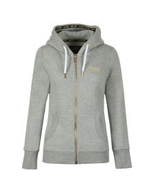 Superdry Womens Grey Orange Label Elite Ziphood