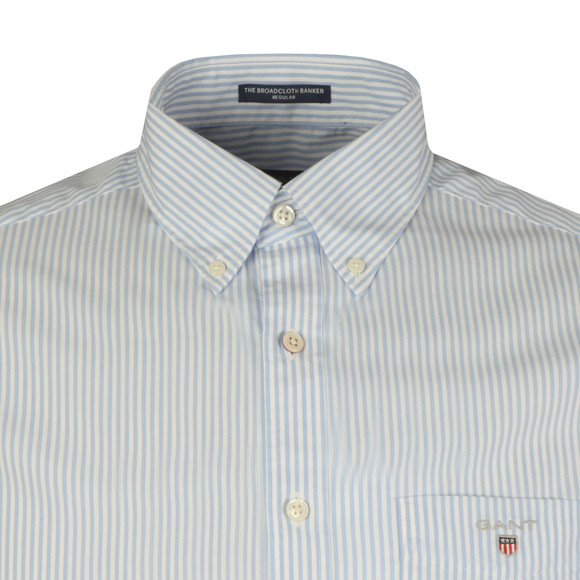 Gant Mens Blue S/S Broadcloth Banker Shirt main image
