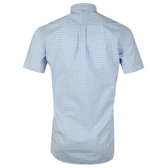 Gant Mens Blue Broadcloth Gingham Shirt main image