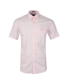 Gant Mens Pink Broadcloth Gingham Shirt