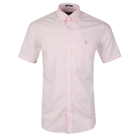 Gant Mens Pink Broadcloth Gingham Shirt main image