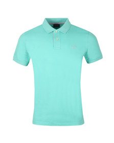 Gant Mens Green Contrast Collar Polo