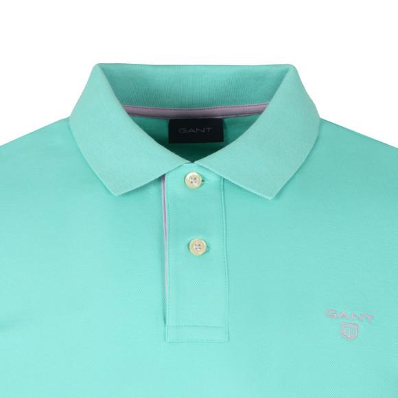 Gant Mens Green Contrast Collar Polo main image