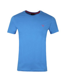 Gant Mens Blue S/S Contrast Logo Tee