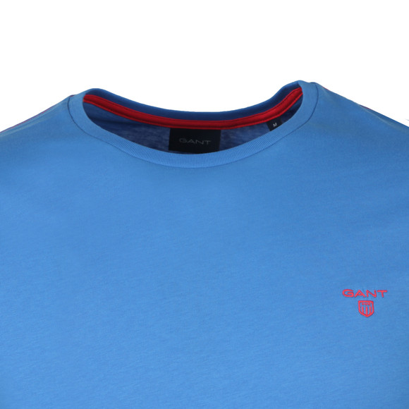 Gant Mens Blue S/S Contrast Logo Tee main image