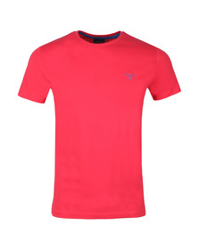 Gant Mens Red S/S Contrast Logo Tee