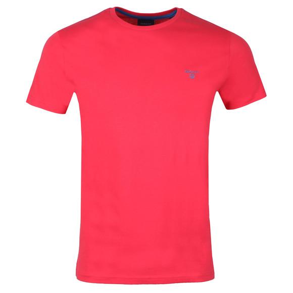 Gant Mens Red S/S Contrast Logo Tee main image