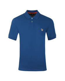 PS Paul Smith Mens Blue Zebra Polo Shirt