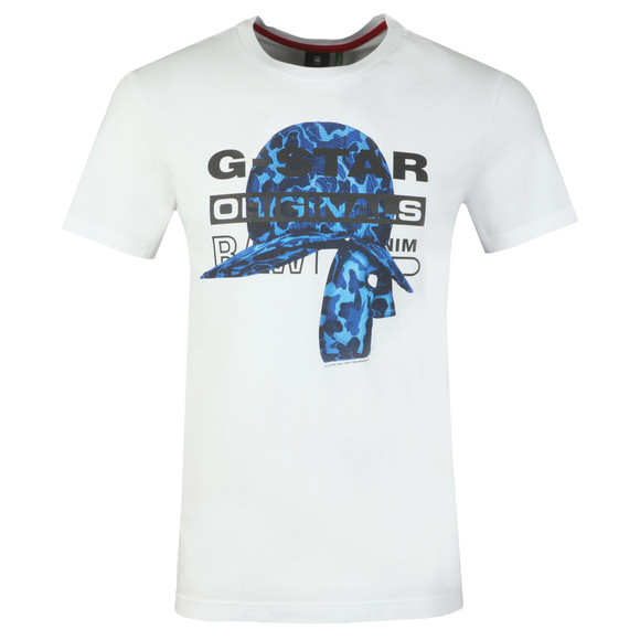 G-Star Mens White S/S Graphic 45 Tee main image