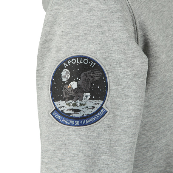 Alpha Industries Mens Grey Moon Landing Hoody main image
