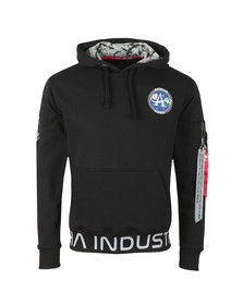 Alpha Industries Mens Black Moon Landing Hoody