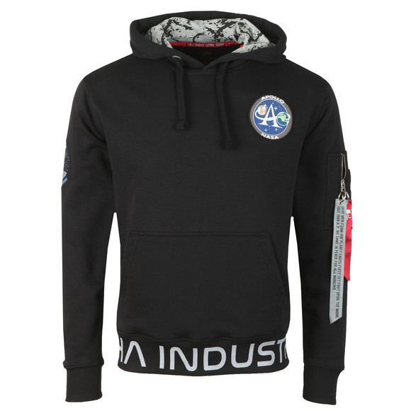 Alpha Industries Mens Black Moon Landing Hoody main image