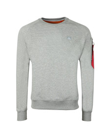 Alpha Industries Mens Grey X Fit Sweatshirt
