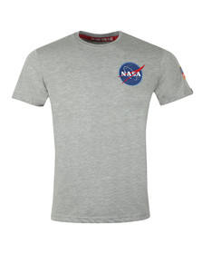 Alpha Industries Mens Grey Space Shuttle T Shirt