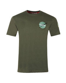 Alpha Industries Mens Green Space Shuttle T Shirt