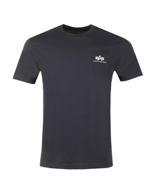 Alpha Industries Mens Blue Basic Small Logo T Shirt