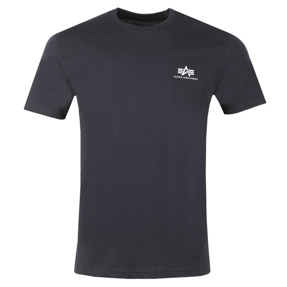 Alpha Industries Mens Blue Basic Small Logo T Shirt main image