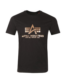Alpha Industries Mens Black Logo T Shirt